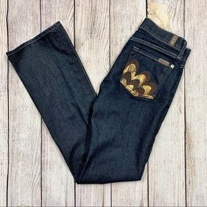 7 For All Mankind Bootcut Jeans Embroidered Pocket